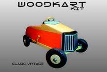coches a pedales / de madera para armar
