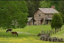 Log homes~Cabins / Early log homes / by Louise Tietjen