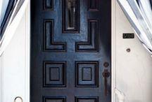 a grand entrance / Entrances, halls, foyers, decor, Architecture, Interior design, homes, style, furnishings, accessories. Nikohl cadeau interiors www.nikohlcadeau.com