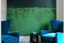 Vert et bleu - Green and blue