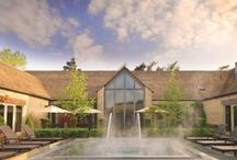 Calcot Spa / Situated in a quiet corner of the grounds of Calcot Manor, close to the main house, Calcot Spa is everything you would expect from a Cotswolds Spa. Hotel guests and spa members enjoy immersing themselves in a fabulous outdoor hot tub and expert treatments revolve around signature partnerships with Aromatherapy Associates, Caci, Endermologie and Spa Find. For daily exercise there are state-of-the-art fitness facilities – a gym, tennis courts and 'Trim Trail'. Retreat, retreat!