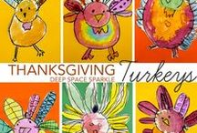 Thanksgiving / Thanksgiving drawing, crafts, thematic writing, bulletin boards and activities