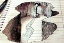 3D drawing / Ik vind het gaaf als mensen zo cool kunnen tekenen. Het lijkt gewoon echt! Eerlijk waar ongelofelijk!!!!!!
