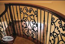 Mediterranean Staircase Remodeling Ideas / Our Mediterranean staircase remodeling parts embody the look and feel of Mediterranean style architecture. From our custom fabricated panels to our stock balusters, these components give rise to intricately designed staircases. Enjoy the use of square hammering and large spiral designs by combining our Gothic, Tuscan, Scroll, and Panel collections. For custom Mediterranean style components, please visit the custom section on our website.