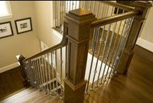 Transitional Staircase Remodeling Ideas / Transitional Staircase Remodeling components combine the sleek lines of contemporary style balusters with the exaggerated features of traditional style iron. These stair parts often feature plain smooth bars with simple ornaments. Most of these products are stocked in either hollow or solid wrought iron, and are available in multiple powder-coated finishes. Aside from stocked parts, our custom fabricated transitional components will meet the design needs of any client.
