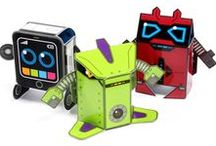 OiDroids Original Series characters / A collection of our OiDroids Series 1 pop-out and build robot characters