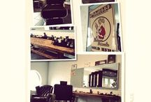 Our barbershop / Here we create the men's beards and haircuts. In a old school way we cut and also shave the italien way! Be welcome