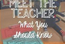 Meet the Teacher / Make a great first impression with these ideas for Meet the Teacher/Open House!