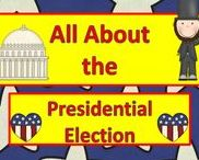 Presidential Election & Voting / Collection of materials on topics including elections and voting. Some materials include specific information on the 2016 Presidential election and candidates, Hillary Clinton and Donald Trump.