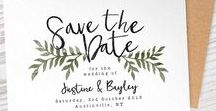 S A V E - T H E - D A T E - I D E A S / SAVE THE DATES & WEDDING INVITE IDEAS