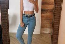 Básico / jeans com blusinhas