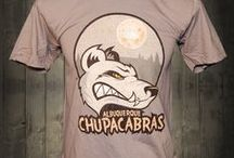 """Albuquerque Chupacabras Awesome T-shirt  / The Chupacabra has supposedly been spotted in Mexico and the Southwest parts of the States. We decided on New Mexico as a landing spot since many say other mythical creatures have """"landed"""" in New Mexico. We hope you enjoy this mythical awesome logo and we're proud to add it to our funny Men's Tshirt collection!"""