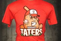 Idaho Taters Funny T-shirt / Who wouldn't want to wear a mean looking potato on their chest? This funny t-shirt is a terrific addition to your wardrobe.