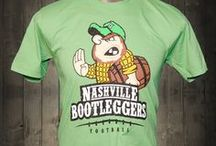 """Nashville Bootleggers Awesome T-shirt / This Bootlegger is doing the """"Heisman"""" holding a whiskey barrel instead of a football. Love this t-shirt."""