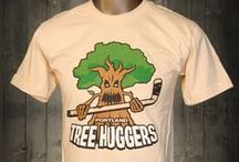 Portland Tree Huggers Funny T-shirt / All bark, no bite and lots of compliments when you wear this awesome t-shirt.