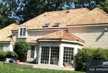 Roofing: Cedar Shake / Being one of the lightest and toughest roofing materials around makes this one of the best investments you can make in your house. / by A.B. Edward Enterprises, Inc.