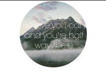 Q U O T E S / Inspiring and motivational quotes