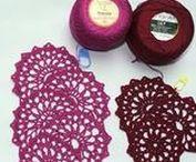 Crochet lace/Háčkovaná krajka - dečky
