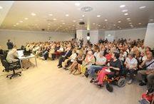 """Conferenza di Partecipazione """"allargata"""" ad associazioni e enti del terzo settore al Nuovo Ospedale / La prima Conferenza di Partecipazione dell'ASL BI nel 2014 si è tenuta al Nuovo Ospedale in modalità allargata, per le associazioni sociosanitarie e gli enti del terzo settore del territorio biellese. I circa 240 partecipanti, suddivisi in gruppi, oltre a visitare il nuovo ospedale, hanno assistito ad una spiegazione illustrativa della struttura, dei relativi costi di realizzazione e delle innovative tecnologie di cui sarà dotato."""