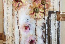 Mixed media I love. / Dit vind ik mooi, creatief en inspirerend.