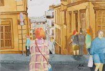 Aquarelle - Watercolor / Aquarelle, watercolor, acuarela