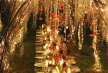 Set the stage / Boho Weddings - create the feeling!