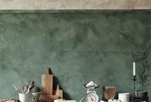 INTERIORS // WALLS / Wall coverings, from statement walls and wallpaper to distressed brick and concrete