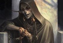 Conceptboard - Little Black Riding Hood (Czarny Kapturek) / death, grim reaper, cute, sweet, love, fun