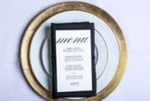 """Custom Wedding Menus / a """"taste"""" of style for the modern or traditional bride"""