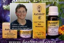 Axhilirit© E Moisturizing for Eczema & CELLULITE / Natural Oils and Creams for all types of Eczema, itchy or dry skin conditions as well as psoriasis and CELLULITE