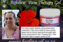 Axhilirit Pain Therapy / Axhilirit PAIN THERAPY Sports Gel and Massage Balm. A soothing and accelerated healing gel/balm for managing of pain related conditions. Can also be used for headaches, arthritis, joint pains and aches, sprains, bruises, muscle strains, sinus pain and menstrual pain. Excellent aftercare for strained muscles.