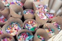 Arroz, petalos, confety...