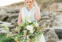 Mermaid inspired wedding shoot / Beautiful mermaid inspired wedding shoot -- with one of my brides!!!  Love the flowing foliages and touches of white flowers including dahlias and roses.