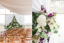 Joseph & Angela - One Ocean / A beautiful ocean side wedding with an eclectic mix of vases, hanging orbs, a flower wall and stunning bouquets.  Working with Angie and her family was an amazing experience