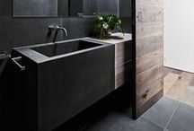 Black / Bathroom, Kitchen, living