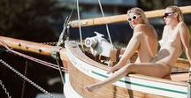 BON VOYAGE - HEPBURN / Nestled away in Hermit Bay amongst the seclusion, glossy waves and emerald green water we document on film our love affair with warm days and staple sunglasses. Come aboard and laze in the afternoon sunshine... you'll discover our adoration for soft palettes, floating layers and bare skin.