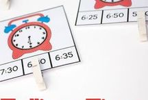 Telling Time / Teach your kids about reading time with these fun activities to help them tell time on their own!