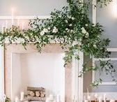 Weddings // Fireplace decor ideas