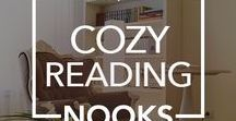 Cozy Reading Nooks / Ideas to create a #cozy #reading #nook in your home.