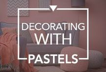 Decorating With Pastels / #Pretty #Pastel #Decor #ideas to cheer up your #living #space.