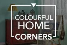 Colourful Home Corners / Inspirations to help you transform boring corners of your home into statement-making spaces. #Colourful #Home #Corners