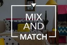 Mix And Match / Easy Ways to Mix and Match Patterns and Colours in your Home