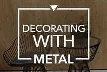 Decorating With Metal / Touch of #metallics for a charming space that is a delight for the sight.