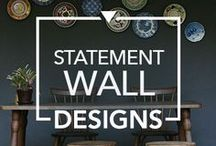Statement Wall Designs / Supercharge the décor style of your home with a feature wall that is all about elegance