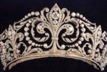Tiara / A Tiara is an ornamental crown made of precious metals and stones. A piece of jewel worn traditionally by women in special occasions. Head ornaments firstly appeared in ancient years until the end of the Roman Empire. In the late 19th century there was a revival of their use.