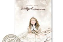 Heilige Communie en Lentefeest / Uitnodigingen met eigen voor Eerste Heilige Communie en Lentefeest.