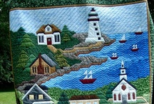 Quilts...Oh, Give me a Home / Quilts with the theme of houses and towns.