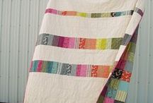 Quilts & Fabrics / I love cutting fabrics apart and sewing them back together again!