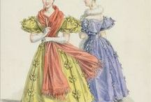 Historical clothing - Beidermeier & Romance / Clothing from the period 1820 - 1850