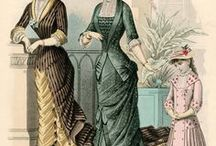Historical clothing - Natural form fashion plates / Fashion plates period 1876 - 1882